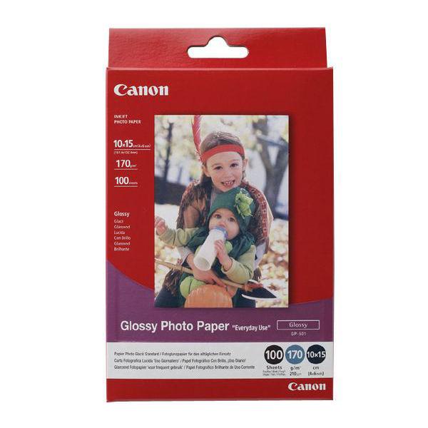 Canon GP-501 Photo Inkjet Paper Gloss 200gsm 100 x 150mm Ref 0775B003AA [100 Sheets]