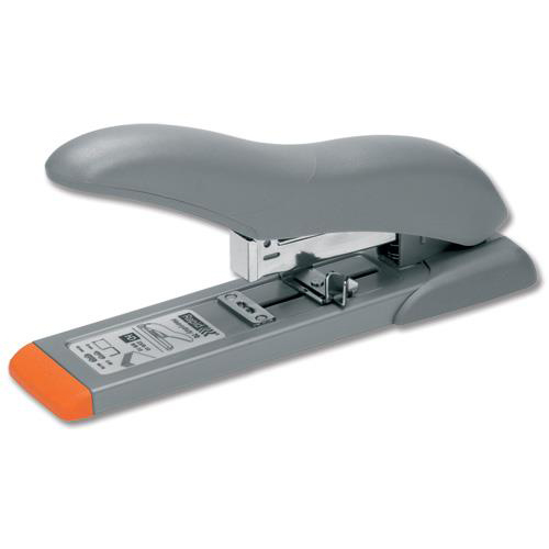 Staplers Rapid HD70 Heavy Duty Stapler 70 Sheet Capacity 53mm Stapling Depth Silver/Orange Ref 21281405