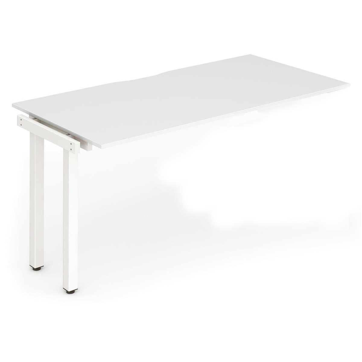 Trexus Bench Desk Single Extension White Leg 1600x800mm White Ref BE310