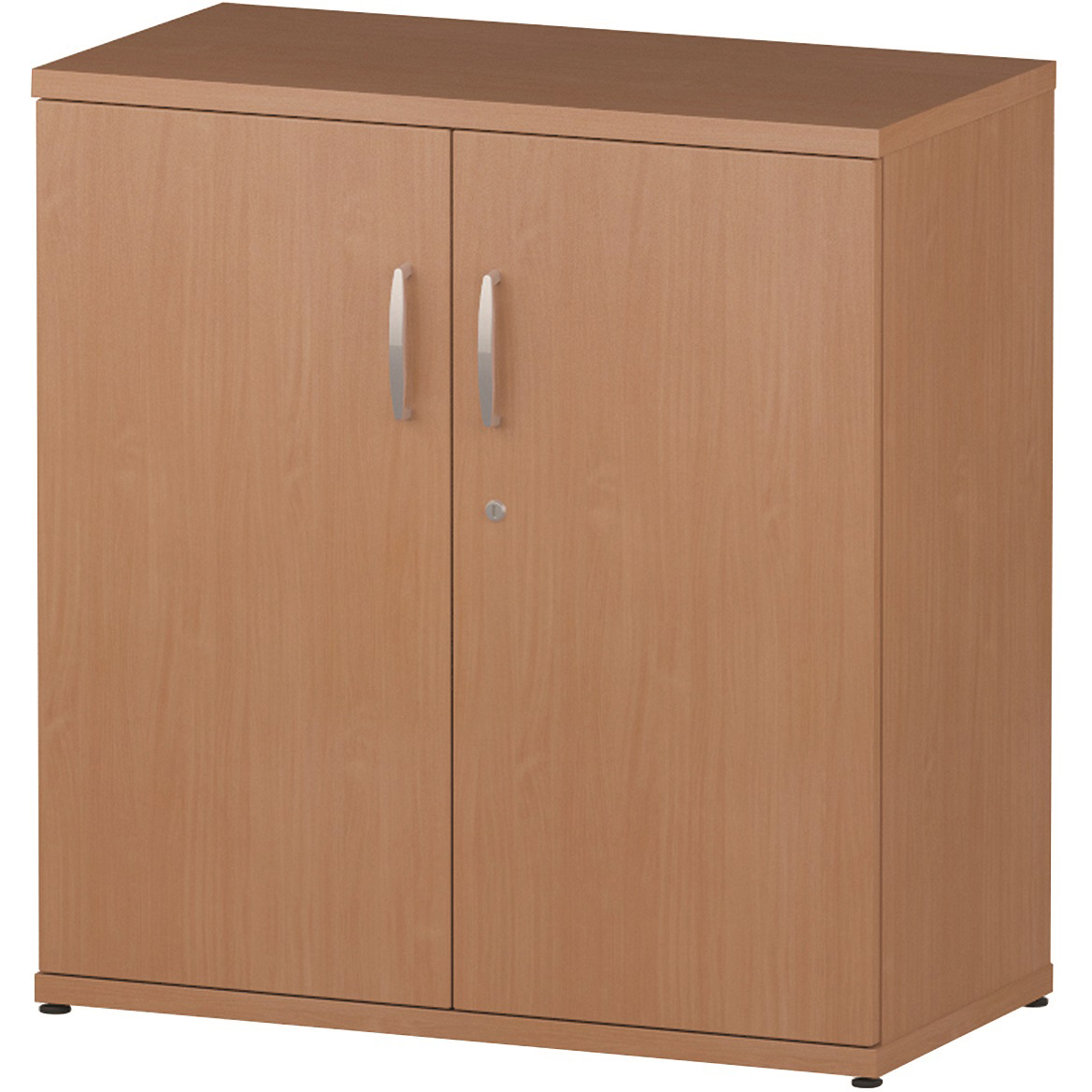 Trexus Office Low Cupboard 800x400x800mm 1 Shelves Beech Ref S00001