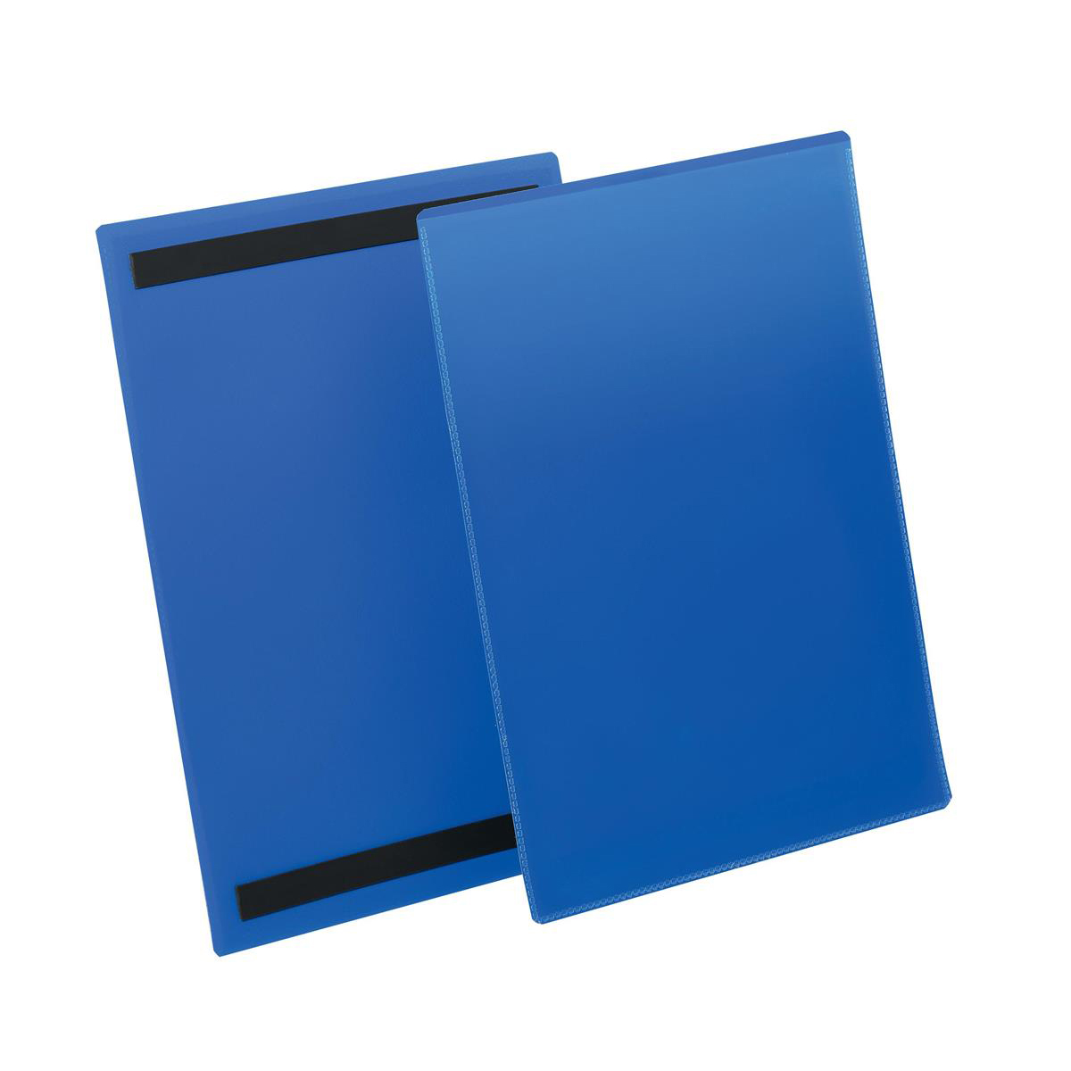 Durable Logistic Pocket Polypropylene with 2 Magnetic Strips A4 Portrait Blue Ref 174407 Pack 50