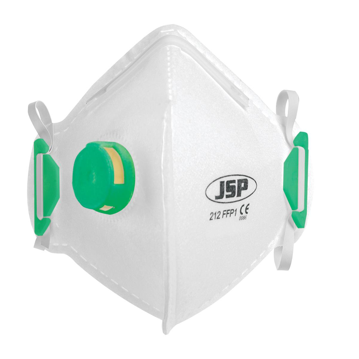 JSP Disposable Mask Valved Fold-flat FFP1 Class 1 EN149:2001 & A1:2009 Ref BEB110-101-000 pack 10