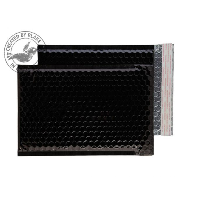 Purely Packaging Envelope P&S 250x180mm Padded Metallic Black Ref MBB250 Pk 100 *10 Day Leadtime*