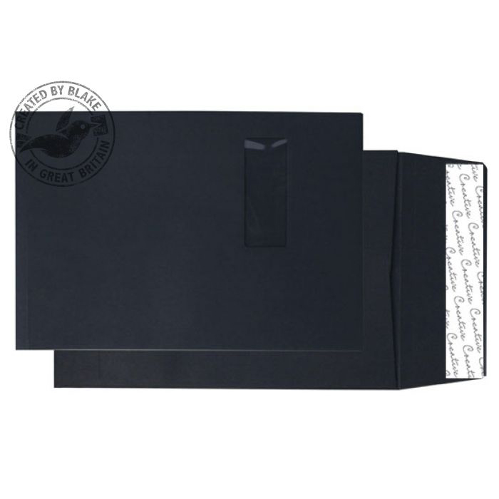 Shades of Purple Purely Packaging Envelope Gusset P&S 140gsm C4 Window Black Ref 9141W Pack 125 *10 Day Leadtime*