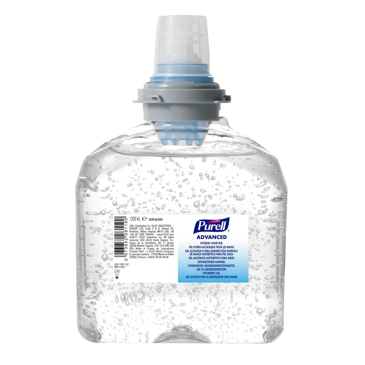 Hand cleaner Purell Hygienic Hand Rub TFX Gel Bottle 1200ml Ref N07778 Pack 2