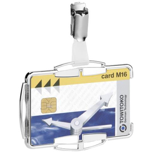 Durable Security Card Holder RFID for One Card Silver Ref 890123 [Pack 10]