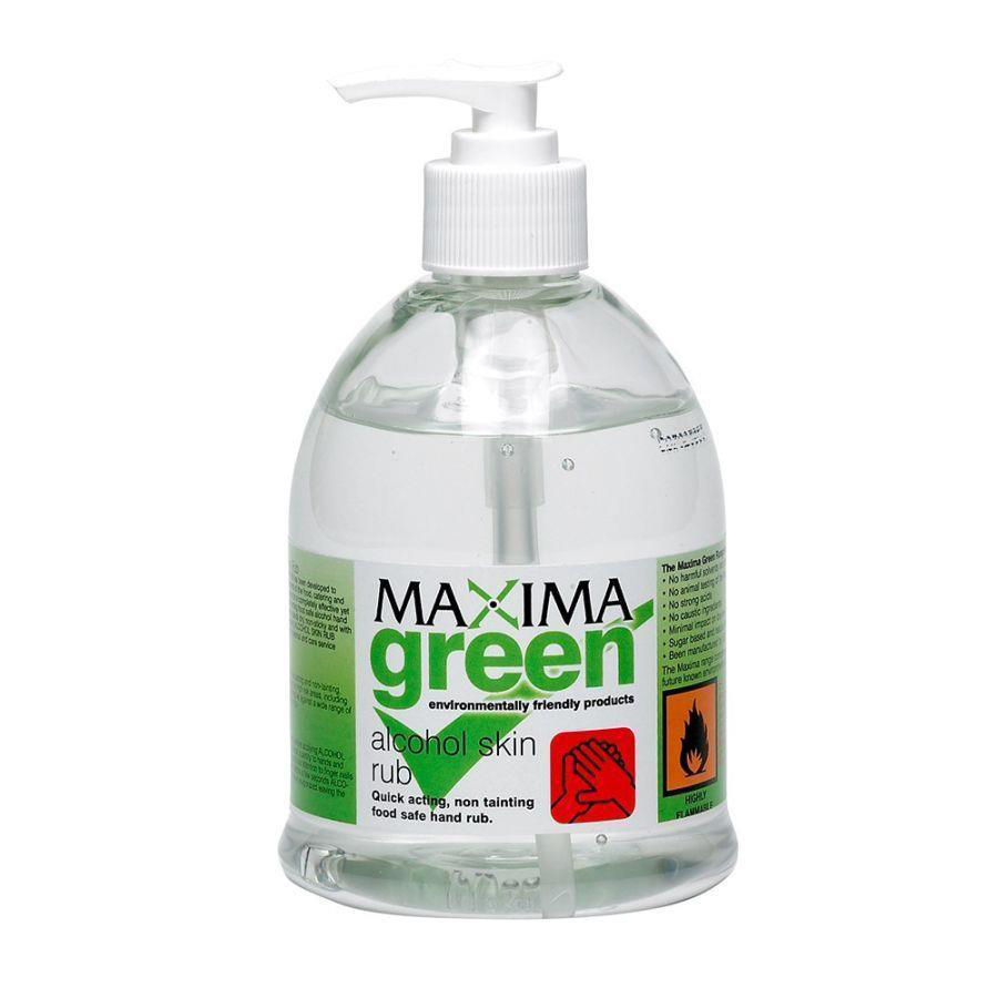 Hand sanitizer Maxima Green Alcohol Skin Rub 450ml Ref 0604360
