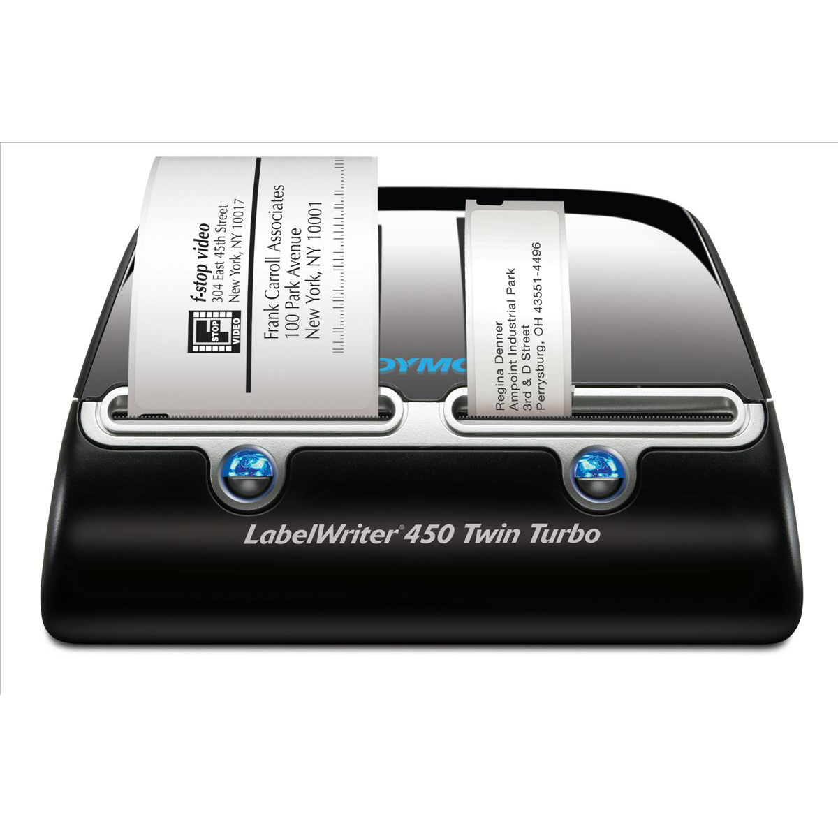 Thermal tape printers Dymo Labelwriter 450 Twin Turbo USB with Software 71 per minute for 13 Types Labels Ref S0838910