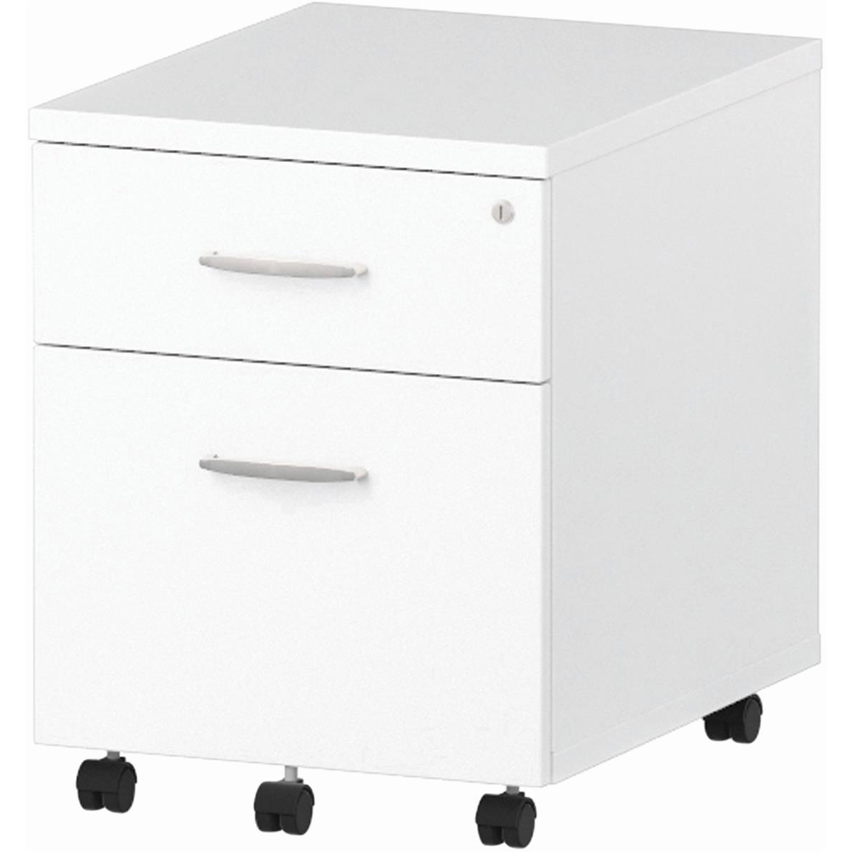 Trexus 2 Drawer Mobile Pedestal 430x500x510mm White Ref I000184