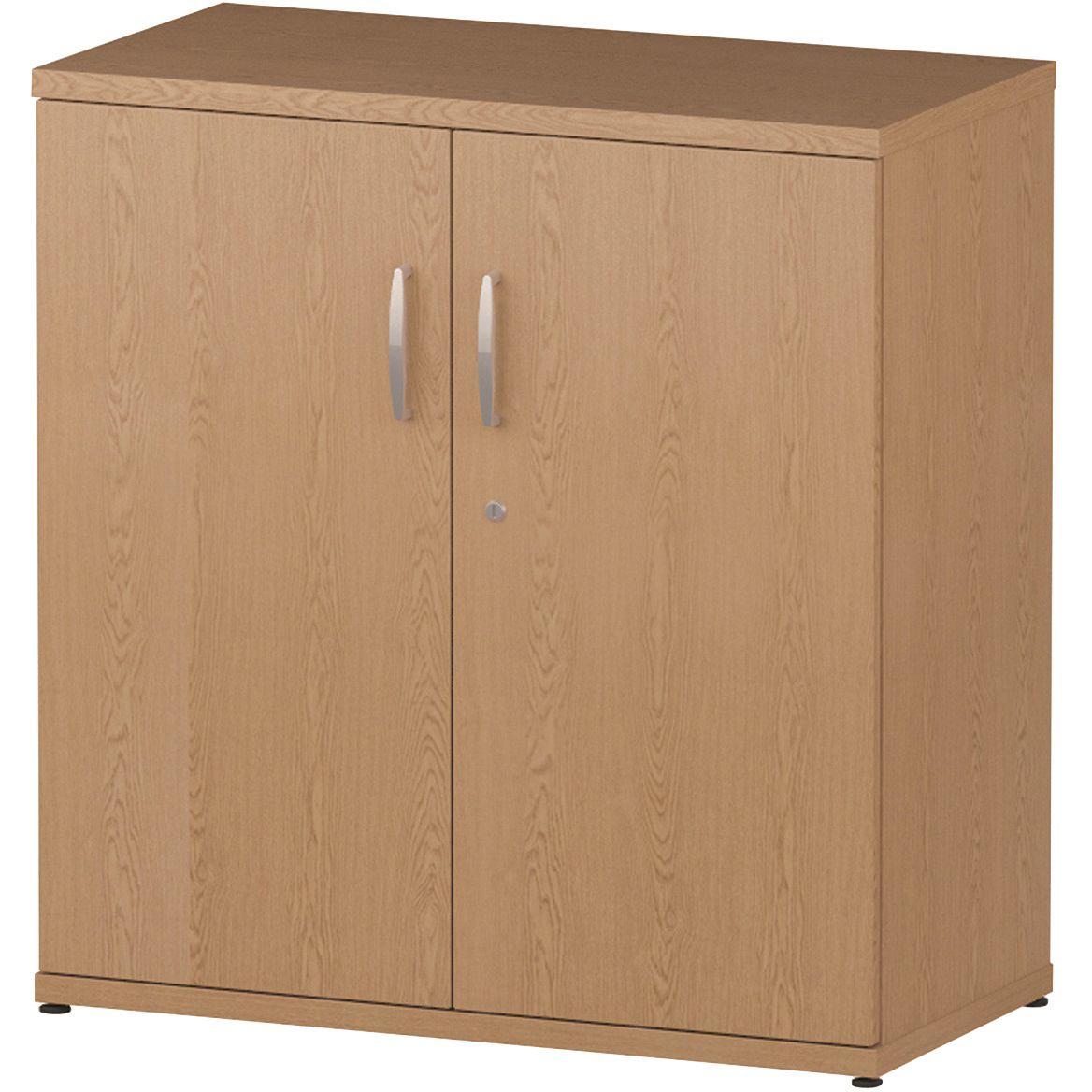 Trexus Office Low Cupboard 800x400x800mm 1 Shelves Oak Ref I000904