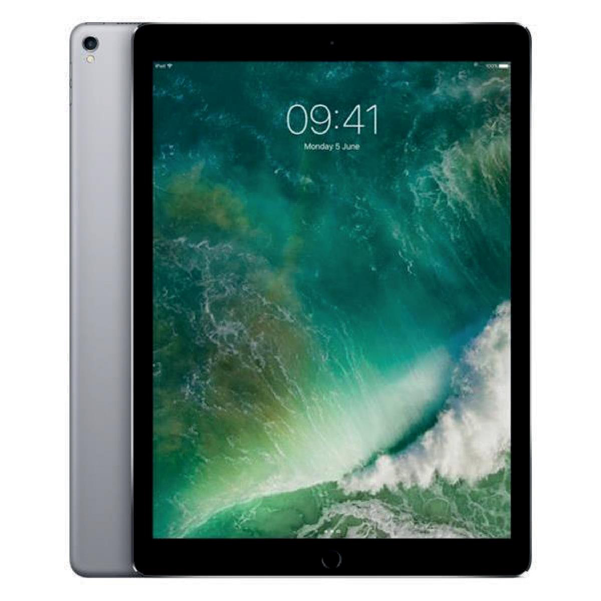 Apple iPad Pro A10X Processor Wi-Fi 64GB 12.9in Retina Display ID Finger Sensor Space Grey Ref MQDA2B/A