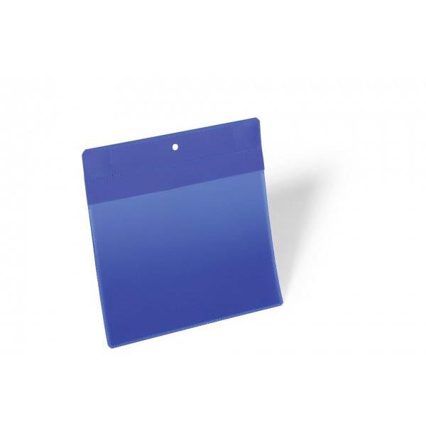 Durable Logistic Pocket Polypropylene with Neodym Strong Magnets A5 Landscape Blue Ref 174607 [Pack 10]