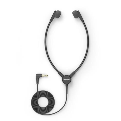 Philips Y-Style Headphones for Transcription Lightweight Durable 3M Cable Charcoal Ref ACC0233
