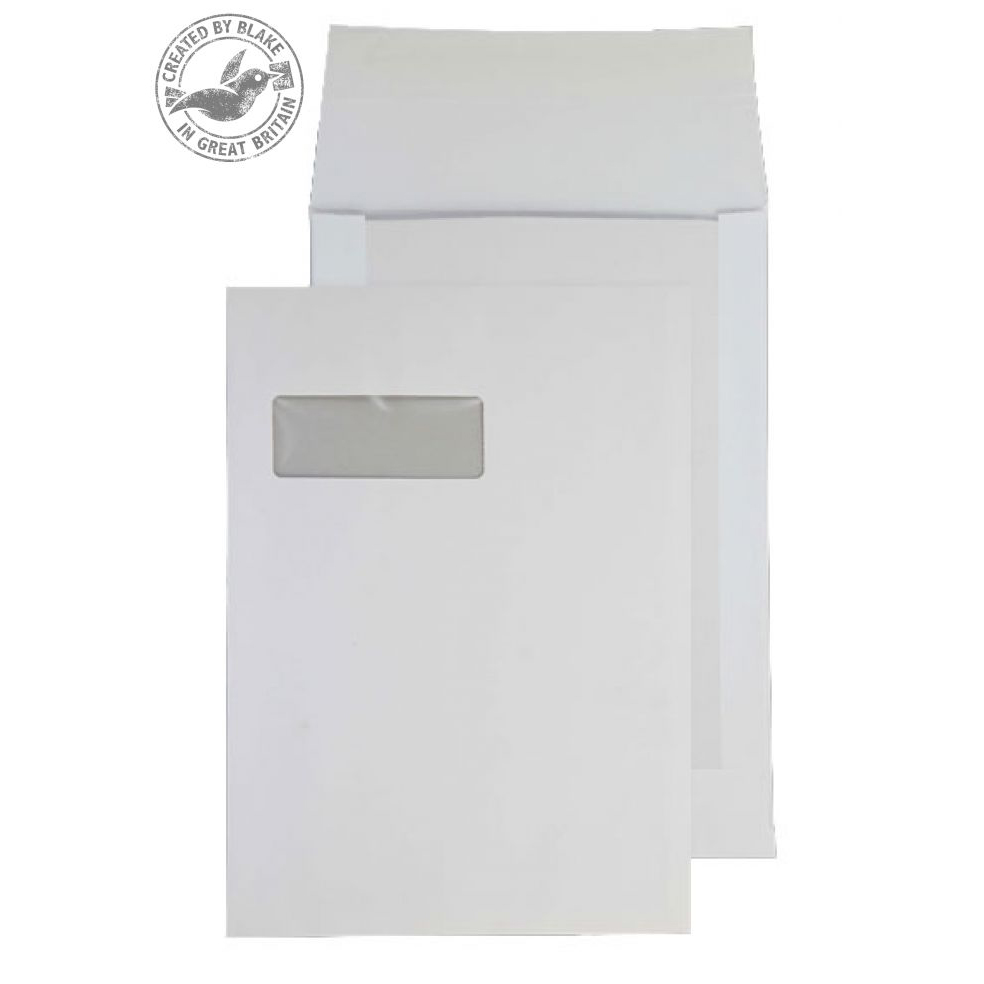 Board Backed Envelopes Purely Packaging Envelope Board Backed P&S 120gsm C4 White Ref 92901W Pack 125 *10 Day Leadtime*