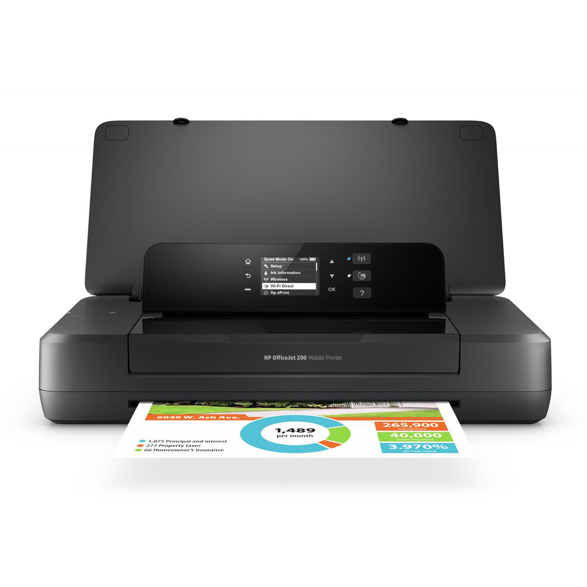 Inkjet printers HP OfficeJet 200 Mobile A4 Printer Ref CZ993A