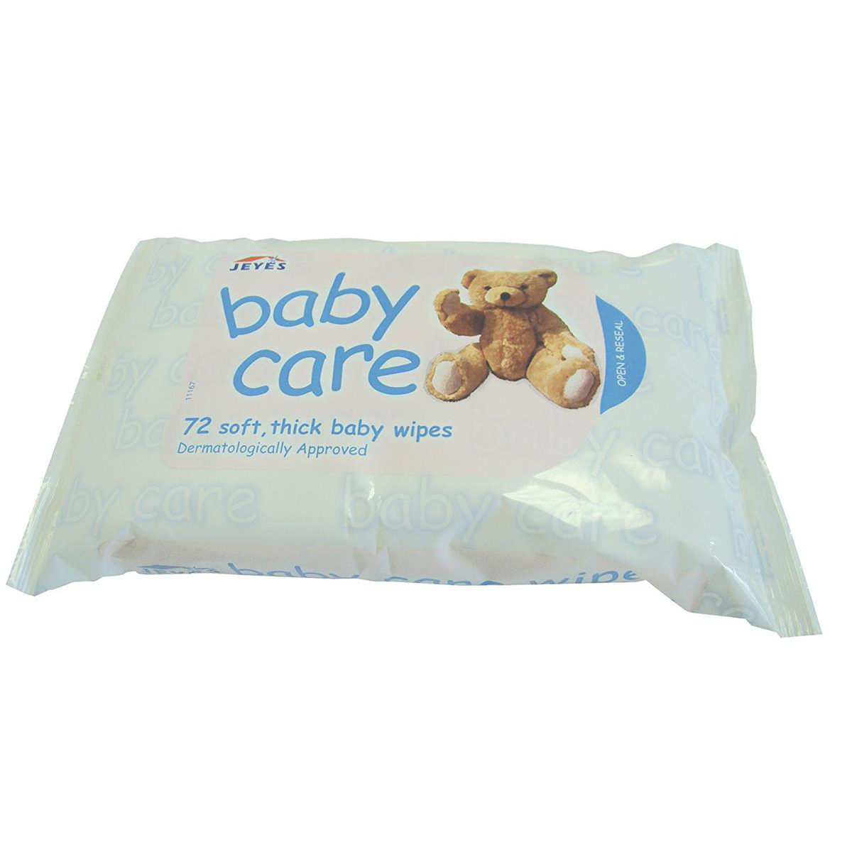 Jeyes Baby Wipes Soft Spun Lace Fabric Ref 0706063 Pack 72