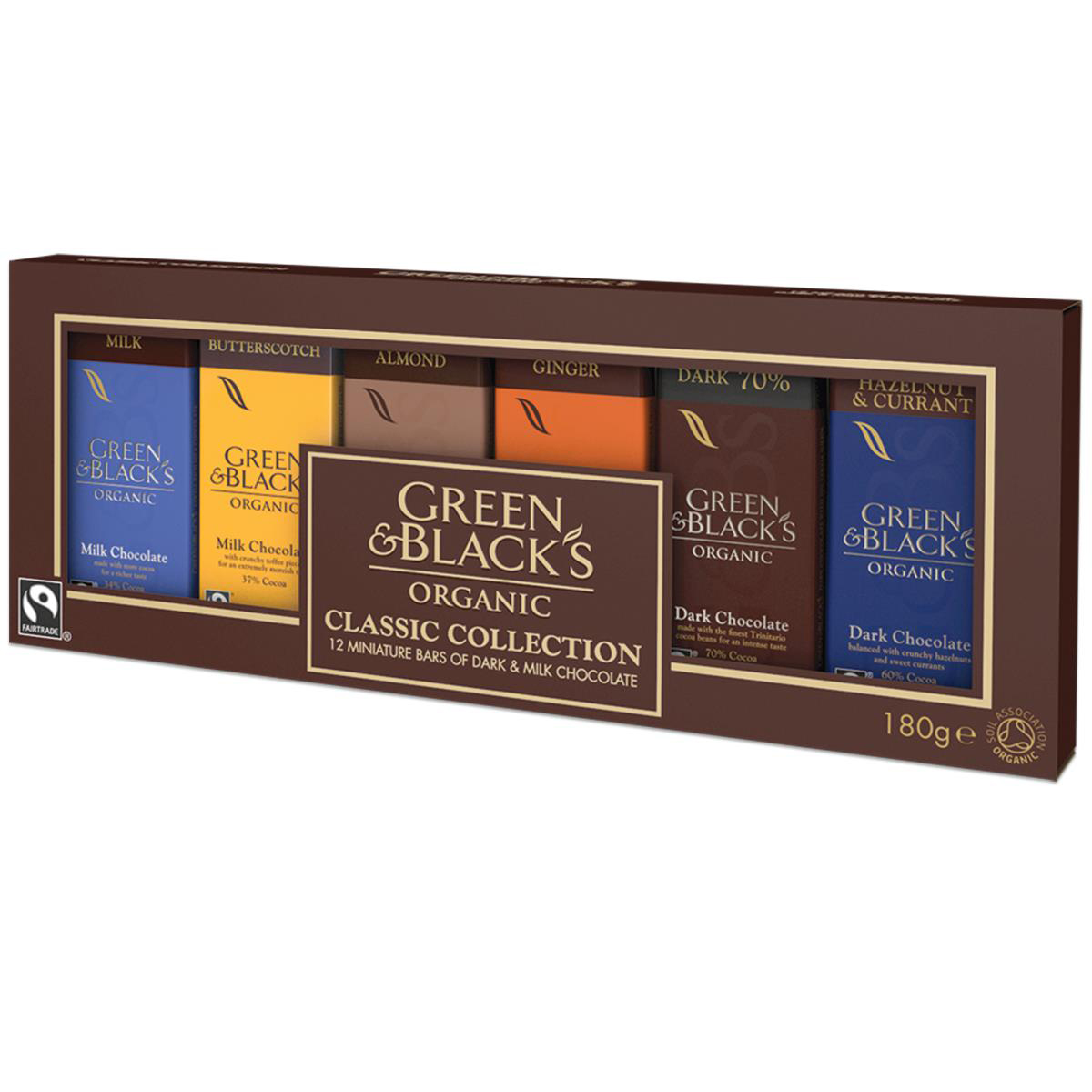 Sweets / Chocolate Green & Blacks Organic Chocolate Miniatures Classic Collection Assorted Ref 666695 Pack 12