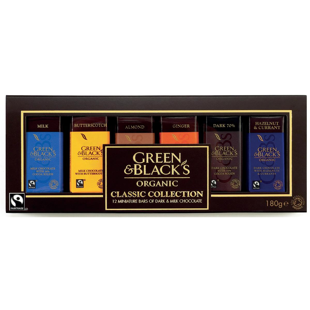 Green & Blacks Organic Chocolate Miniatures Classic Collection Assorted Ref 0401147 Pack 12
