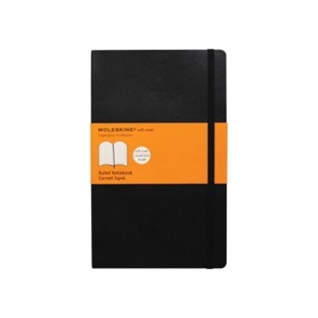Moleskine Notebook Casebound Softback Ruled 70gsm 192pp 130x210mm Black Ref QP616
