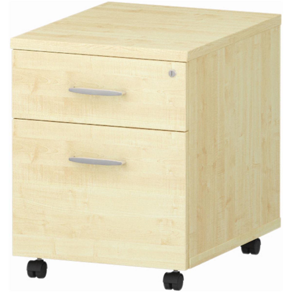 Image for Trexus 2 Drawer Mobile Pedestal 430x500x510mm Maple Ref I000244