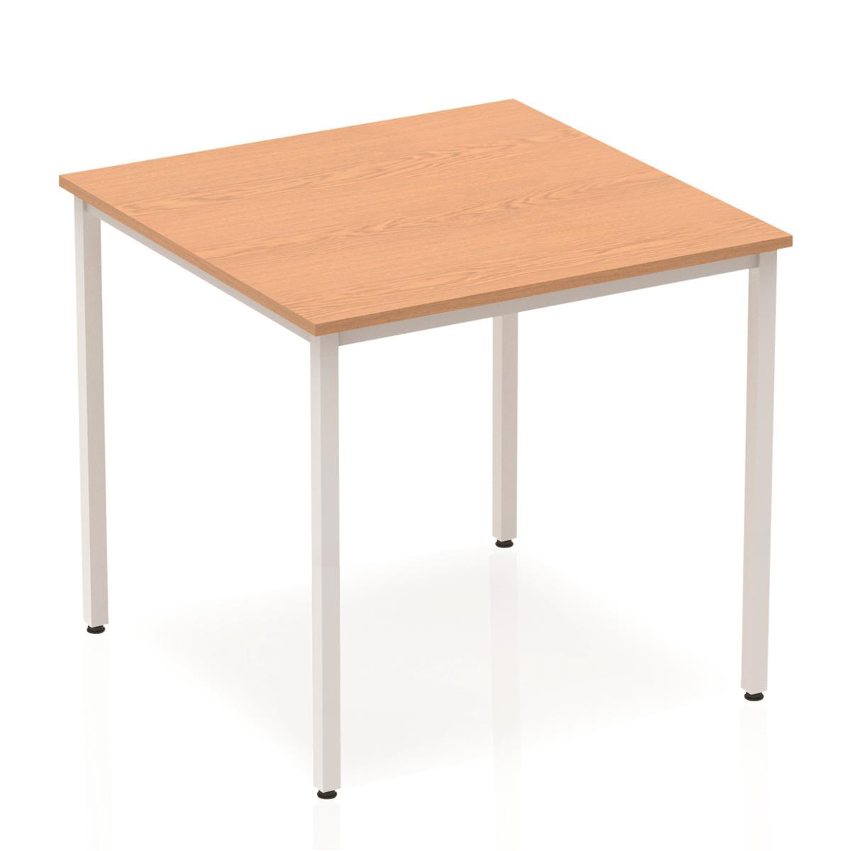 Image for Trexus Square Box Frame Silver Leg Table 800x800mm Oak Ref BF00127