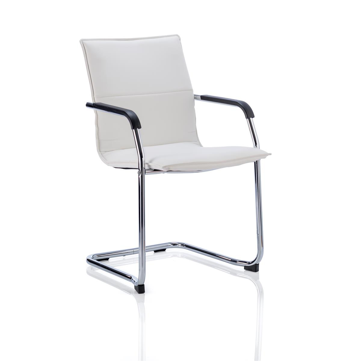 Sonix Echo White Leather Chair 490x460x480mm Ref BR000038