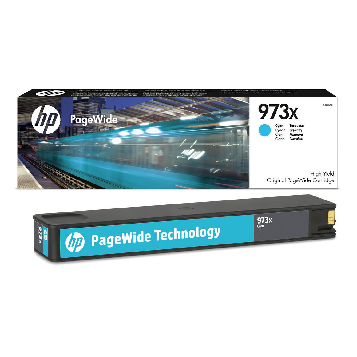 Hewlett Packard [HP] No.973X Inkjet Cart Page Wide High Yield Page Life 7000pp 85.5ml Cyan Ref F6T81AE