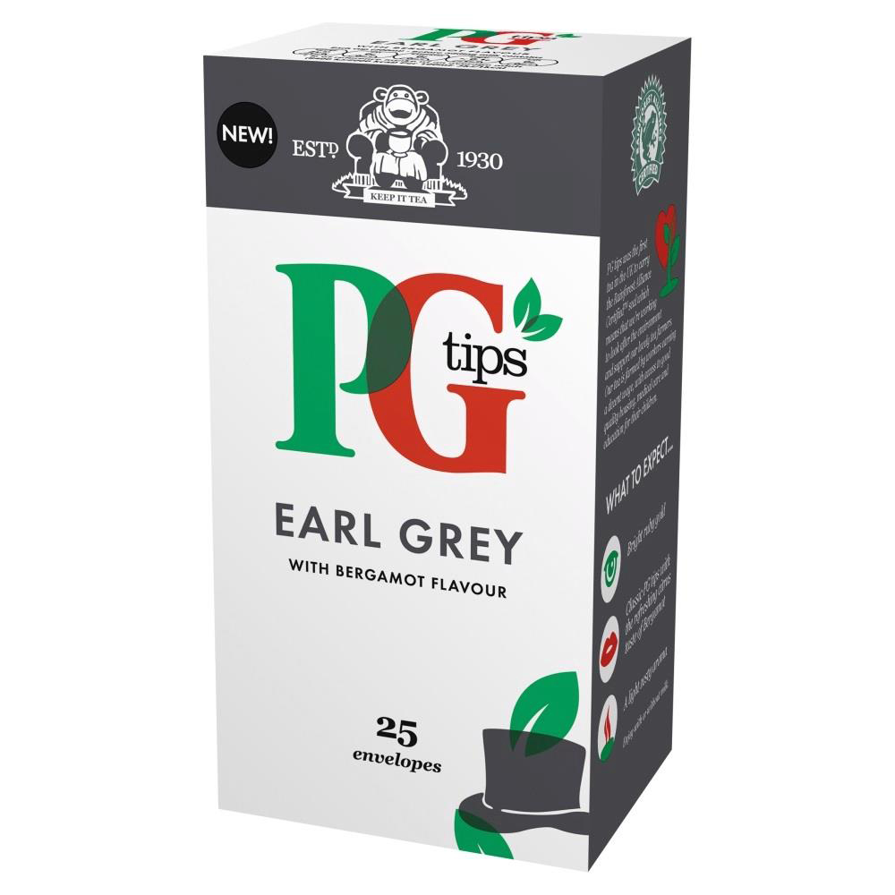 PG Tips Tea Bags Earl Grey Enveloped Ref 29013701 [Pack 25]