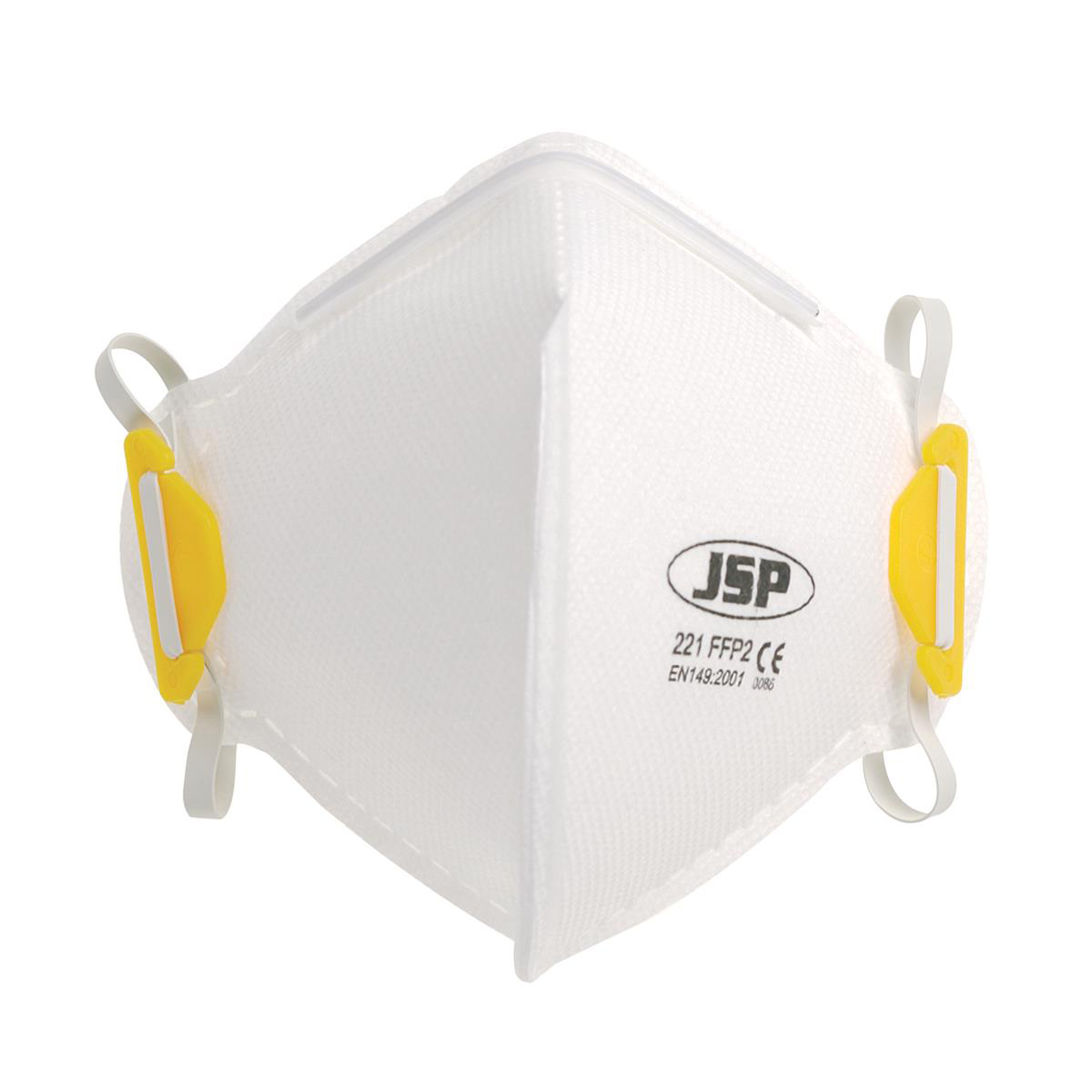 JSP Disposable Mask Fold-flat FFP2 Class 2 EN149:2001 & A1:2009 Standard Ref BEA120-101-000 Pack 20