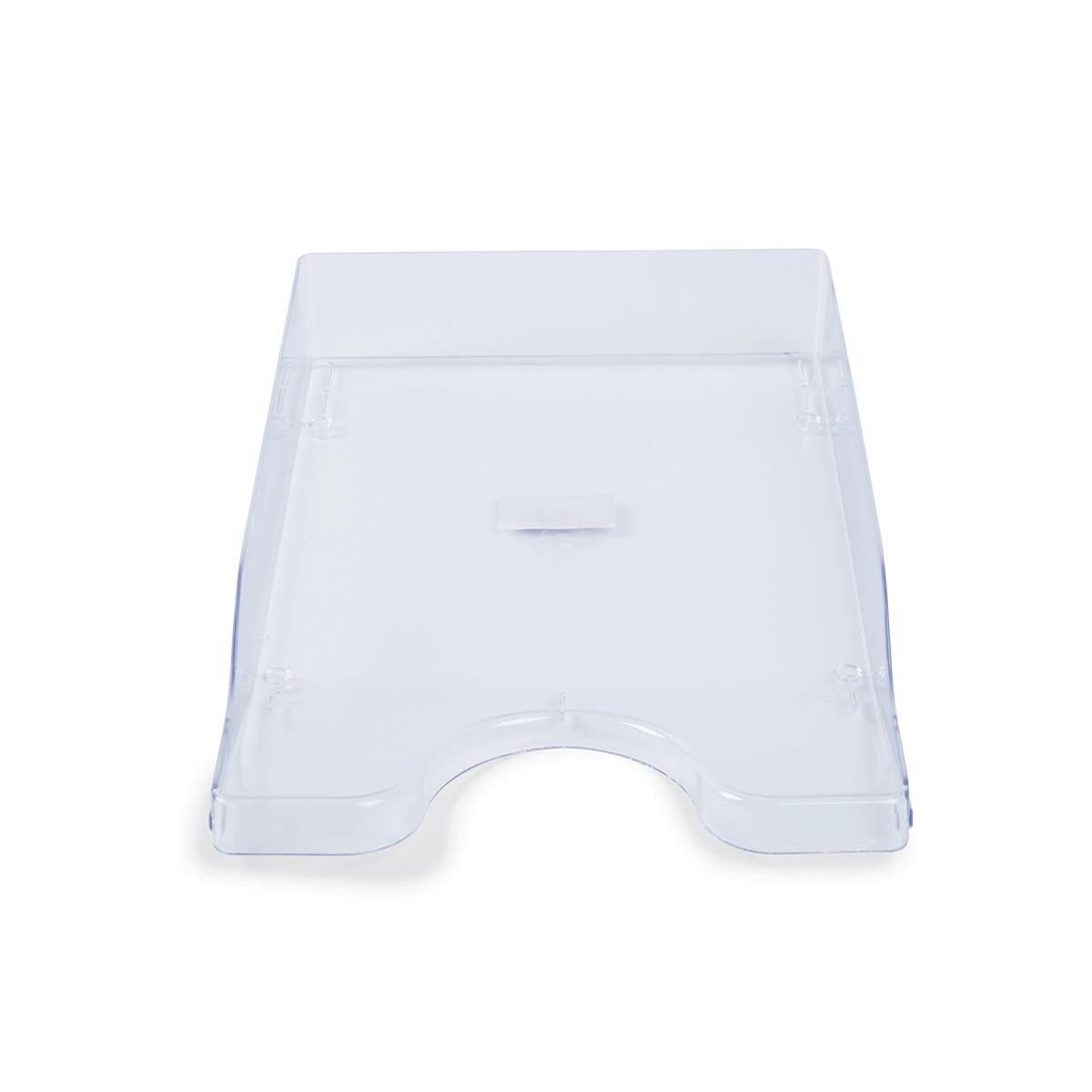 Glass Clear Letter Tray High-Impact Polystyrene for A4/Foolscap W258xD350xH66mm Clear