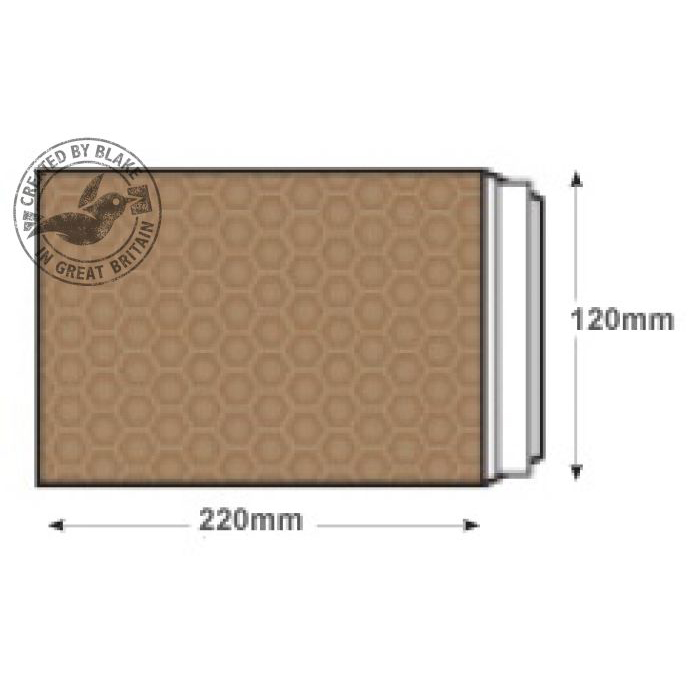 Blake Purely Packaging Padded Bubble Pocket P&S DL 220x120mm Ref B/00GOLD Pk200 *10 Day Leadtime*