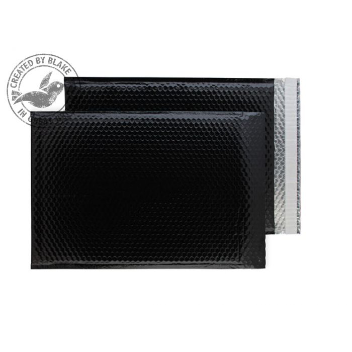 Purely Packaging Envelope P&S C3 Padded Metallic Black Ref MBB450 Pack 50 *3to5 Day Leadtime*