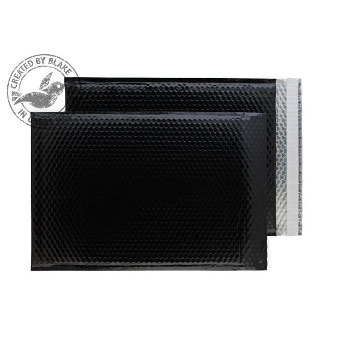 Purely Packaging Envelope P&S 450x324mm Padded Metallic Black Ref MBB450 [Pk 50] *10 Day Leadtime*