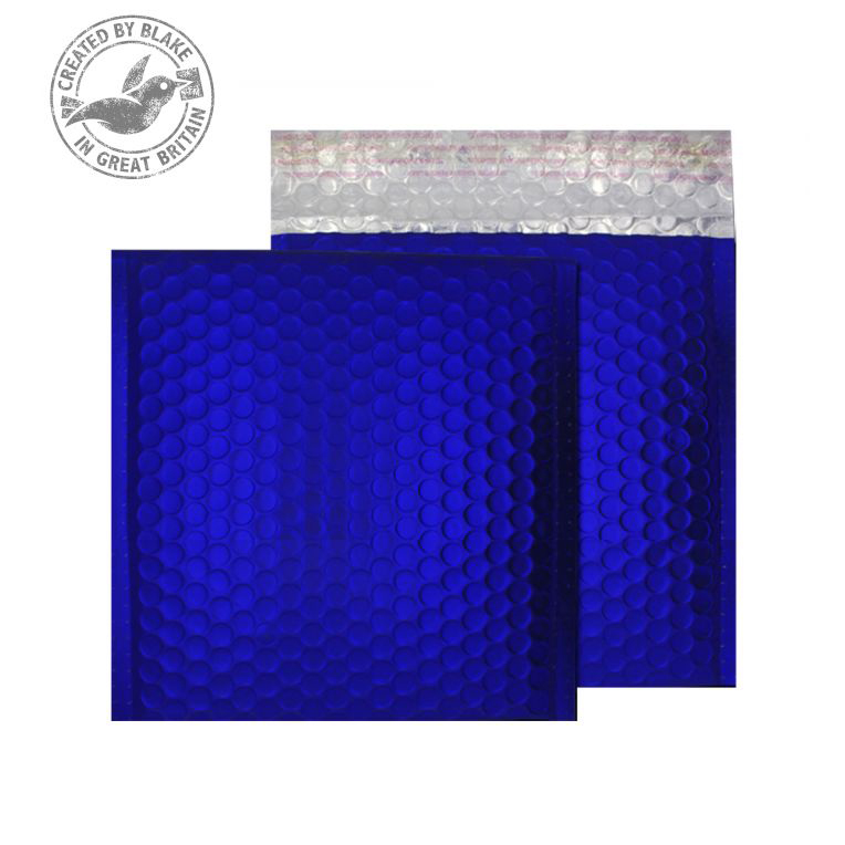 Purely Packaging Bubble Envelope P&S CD Metallic NeonBlue Ref MTNB165 Pk 100 *10 Day Leadtime*