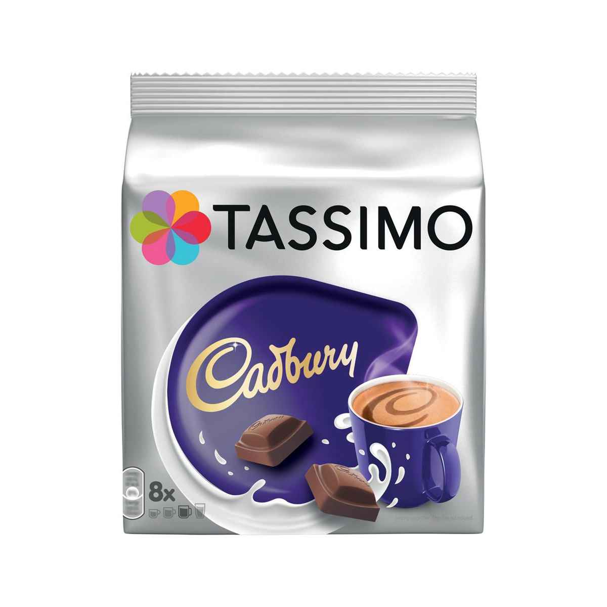 Coffee Tassimo Cadbury Hot Chocolate Pods 8 Servings Per Pack Ref 4031638 Pack 5 x 8