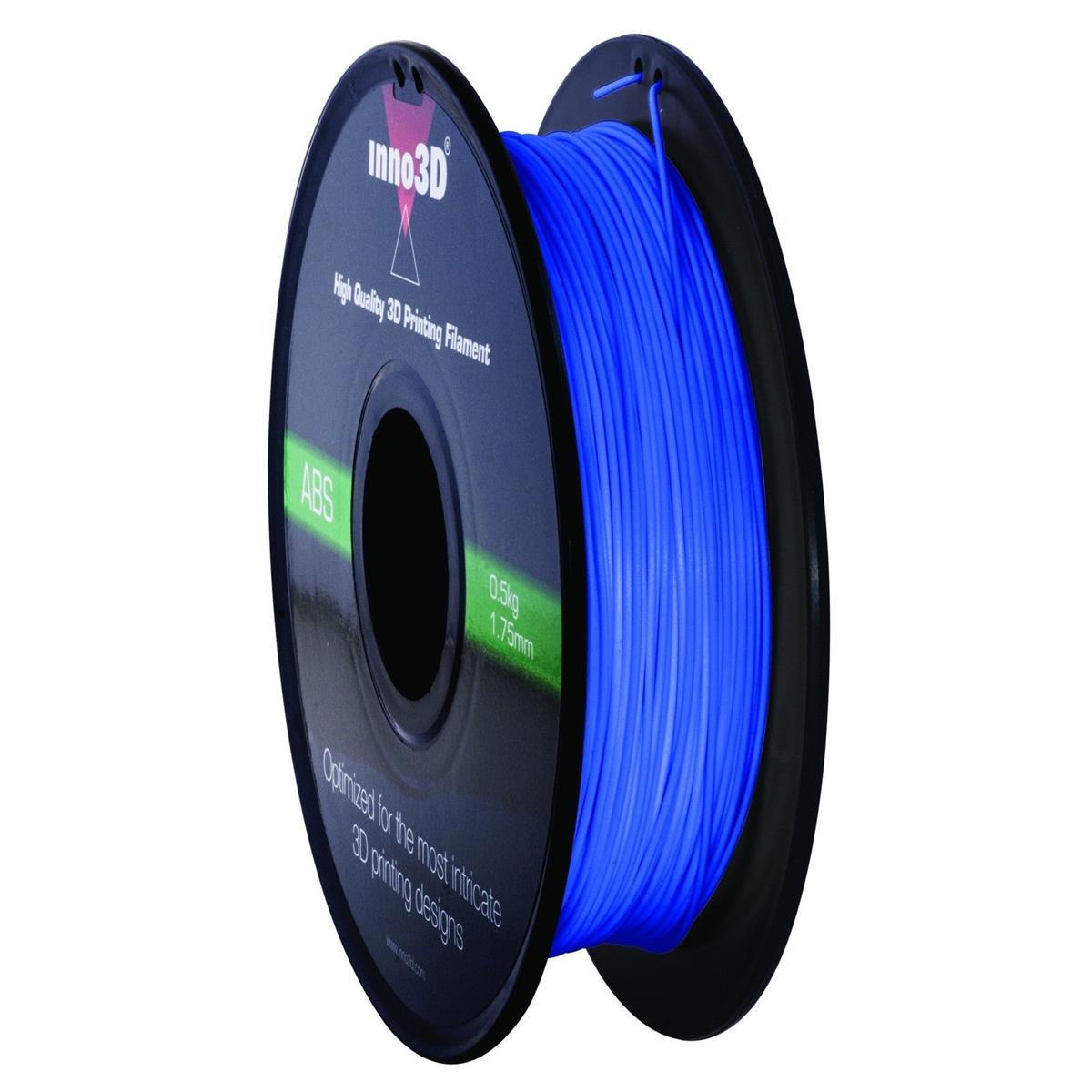Image for Inno3D ABS Filament for 3D Printer 1.75x200mm 0.5kg Blue Ref 3DPFA175BL05