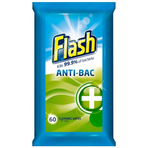 Flash Cleaning Wipes Antibacterial Ref 0706065 [60 Wipes]