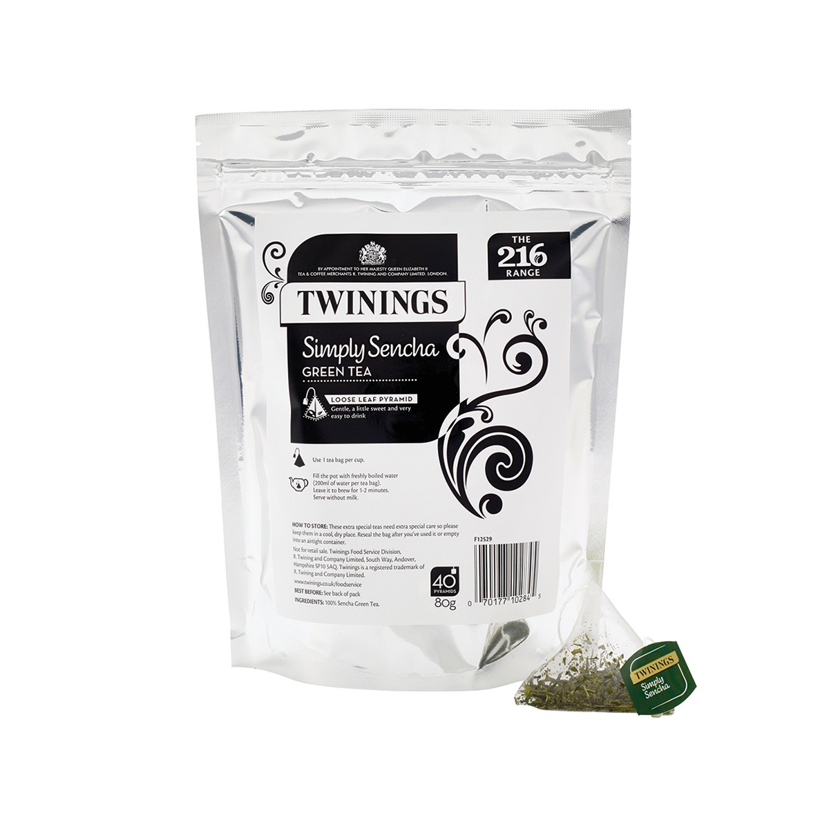 Twinings Tea Luxury Pyramid Teabags Simply Sencha Pouch Ref F12529 40 Bags