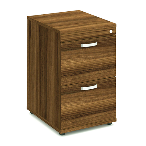 Trexus 2 Drawer Filing Cabinet 500x600x800mm Walnut Ref I000132