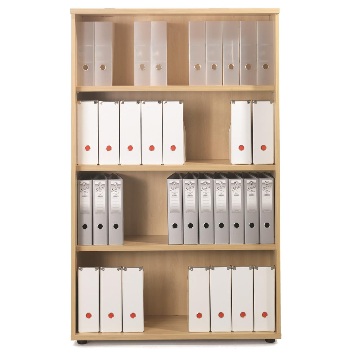 Sonix Tall Bookcase 1000x425x1600mm 3 Shelves Rich Beech Ref w9873b