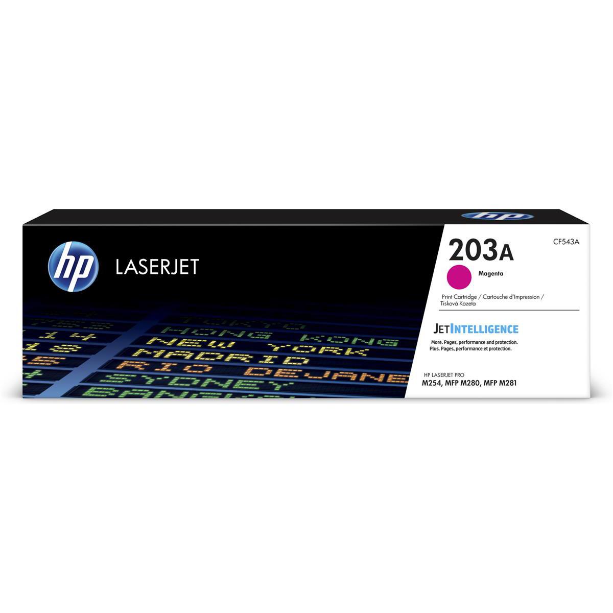 HP 203A LaserJet Toner Cartridge Page Life 1300pp Magenta Ref CF543A
