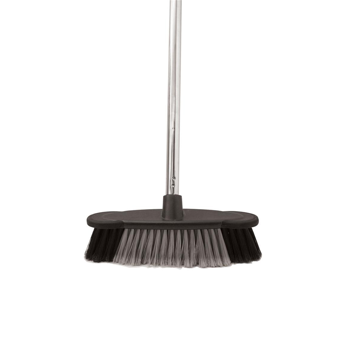 Mops & Buckets Bentley Soft Bristle Broom Indoor Chrome Handle length: 1.2m Ref HL2801/G/F4