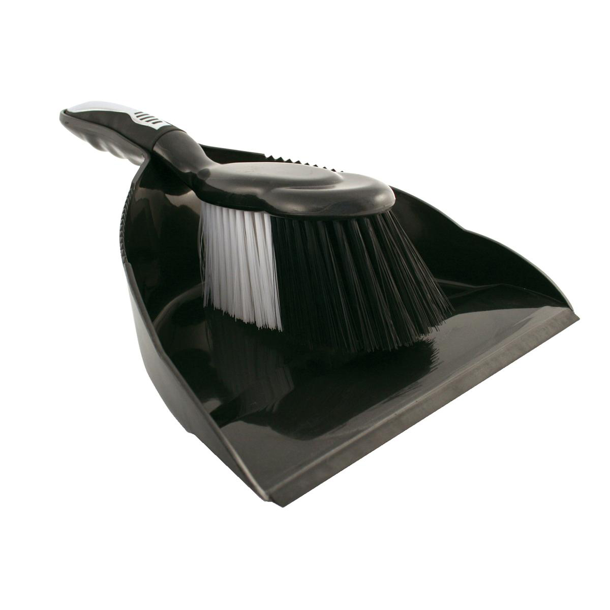 Mops & Buckets Bentley Dustpan and Brush Set Black and Chrome Ref HL8001/G SET