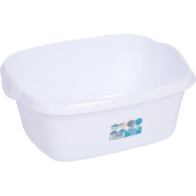 Washing Up Bowls / Brushes / Drainers Washing Up Bowl Rectangular White Ref 12524