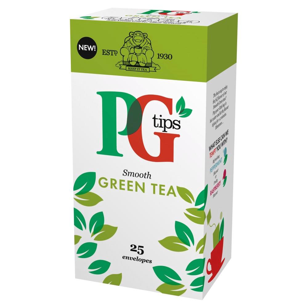 PG Tips Tea Bags Green Tea Enveloped Ref 29013901 Pack 25