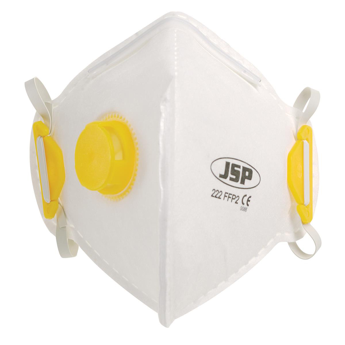 JSP Disposable Mask Valved Fold-flat FFP2 Class 2 EN149:2001 & A1:2009 Ref BEB120-101-000 Pack 10