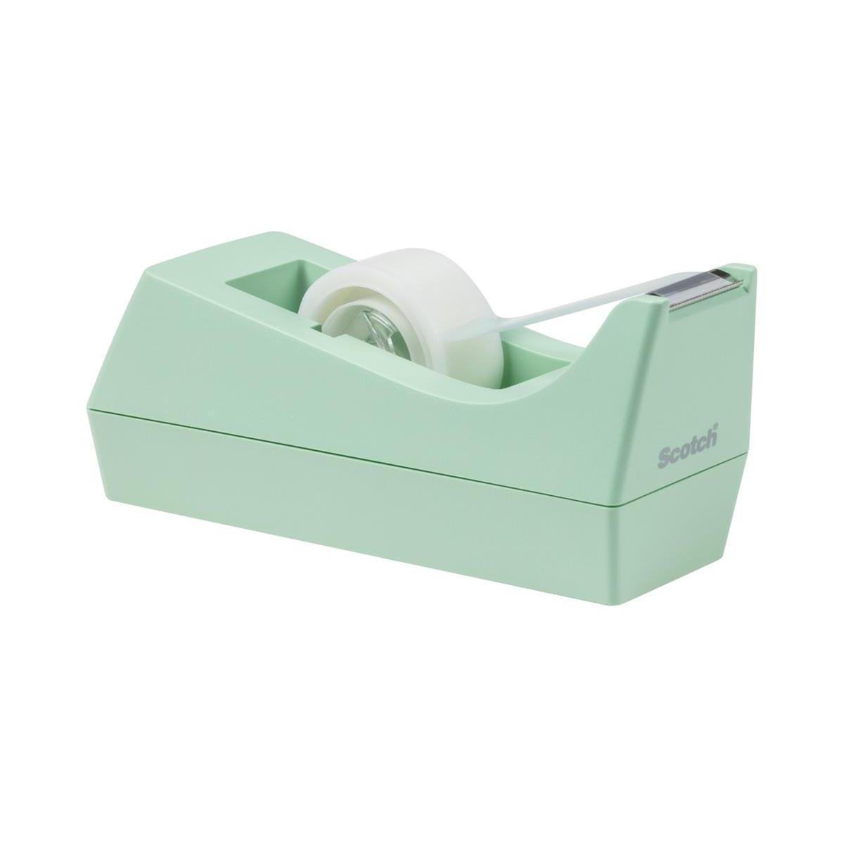 Scotch Weighted Tape Dispenser C38 Mint Plus 1 x Scotch Magic Tape 19mmx8.89m Ref C38-M-EU