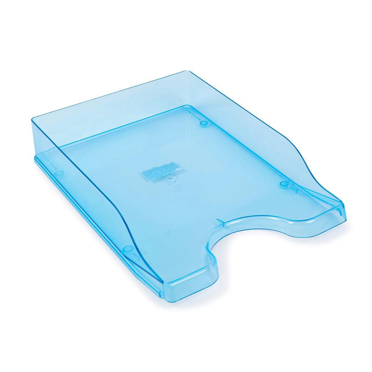 Glass Clear Letter Tray High-Impact Polystyrene for A4/Foolscap W258xD350xH66mm Clear Blue