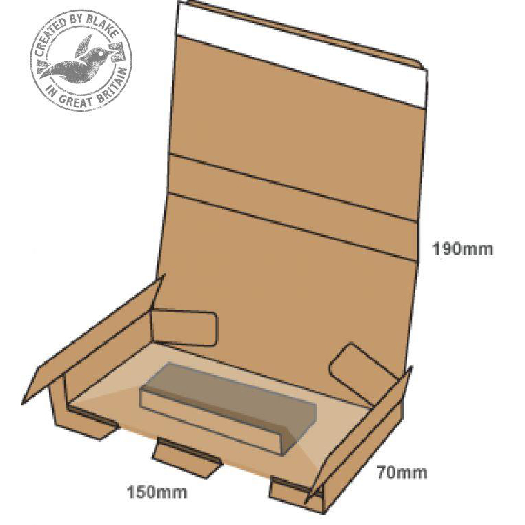 Blake Purely Packaging SSPostal Box P&S Tamper Evident 190x150x70mm RefPSB300 [Pk20]*10 Day Leadtime*