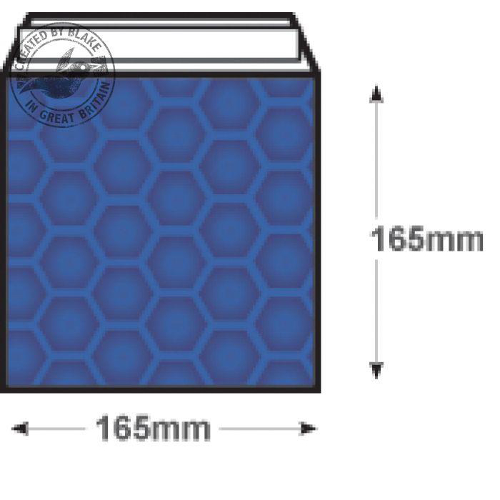 Purely Packaging Envelope P&S 165x165mm Padded Met Blue Ref MBBLU165 [Pack 100] 10 Day Leadtime